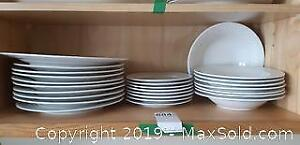 Set of White Dishes A