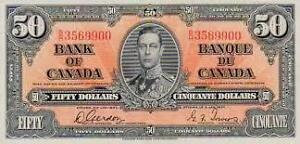 LOOKING FOR OLD PAPER MONEY PRE 1988 WHAT DO YOU HAVE??? London Ontario image 3