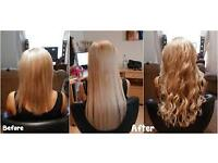 Nano rings extensions,Flat-Tips,Tape Hair,Russian Hair. Get full head with the mobile hair stylist
