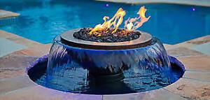 Installation de ligne à gaz pour chauffe-piscine, bbq, foyer ext