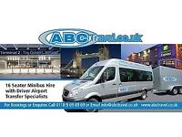 Minibus hire with driver in Reading, AIRPORT TRANSFERS SPECIALISTS-ABC TRAVEL 96969696