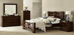 Wanted double/ queen matress ,frame,dressers headboard boxspring