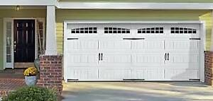 Garage Door insulated; Carriage; windows; installed $1049