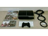 Ps3 backwards compatible, keyboard, controller, 6 games, all cables