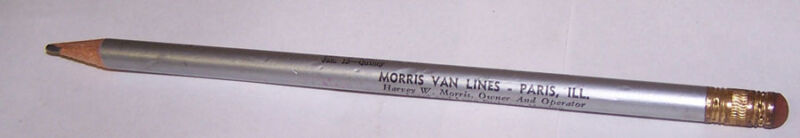 1950 1951 PARIS ILLINOIS High School Basketball Pencil Schedule MORRIS VAN LINES