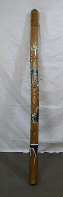Antique 47 inch ABORIGINAL DIDGERIDOO Handmade & Dot Painted turtle Tortoise