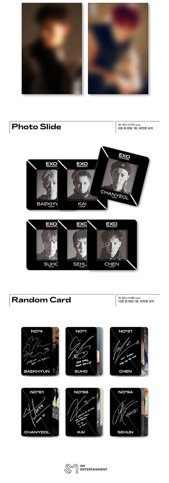 50 EXO 6th Full Album OBSESSION Chanyeol Type-1 Photo Card Official K-POP 30