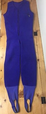 Patagonia Fleece One Piece Jumpsuit Stirrups Adult Full Body Base Layer USA Vtg Bases One Piece Base