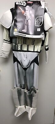 Storm Trooper Star Wars Child Halloween Costume Size M 8-10 Rubie's NWT