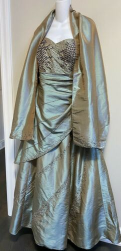 Rare• Gorgeous• Jovani Iridescent Formal Evening Mother of The Bride Gown~16