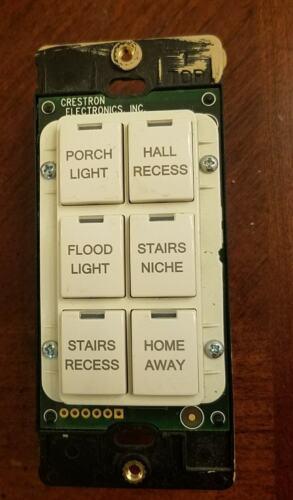 Crestron C2N-DB6A C2N-DB6A  Decorator Keypad, 6-Buttons, Almond Smooth