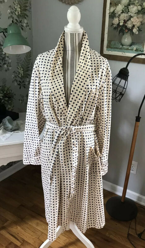 Vintage  Smoking Robe Bathrobe One Size 1960s  Mens Carl Sterr Grosse Point