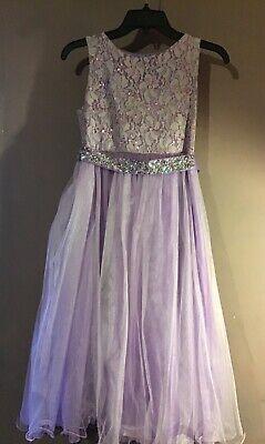 Flower Girl Dress Size 14 (Purple flower girl dress Size 13/14 Excellent conditionPre)