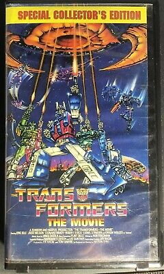 Transformers: The Movie 1986 VHS Special Collectors Edition 1999 Video Cassette
