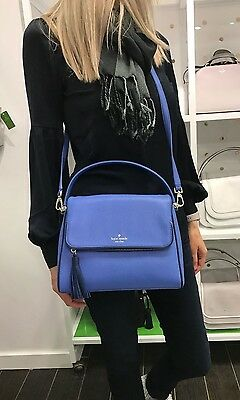 KATE SPADE CHESTER STREET MIRI LEATHER OCEAN ADVENTURE BLUE HANDBAG XBODY BAG