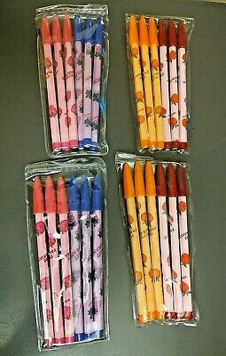 24 Fruit Themed Scented Non Sharpening Pencils 4 Packs Of 6 Lead Back Refill Nip