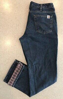 Carhartt Womens 8 (30x32)Fleece Lined Relaxed Straight Jeans Work Pants WB022ADT Carhartt Womens Work Jeans