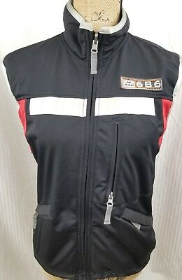 Atomic Garage 686 Womens Black Red Gray Smarty Snow Jacket Vest Size Small 99204