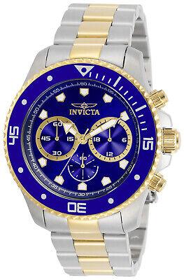 Invicta Men's Pro Diver Two-Tone Blue Dial Chronograph Watch - Model 30749