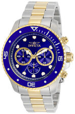 Invicta Men's Pro Diver Two-Tone Blue Dial Chronograph Watch - Model 30749