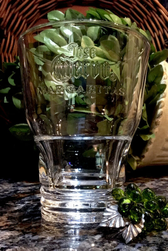 Vintage Jose Cuervo FABRICA LA ROJENA Tequila Embossed Margarita Glass PRISTINE!