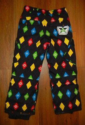 SESSIONS Colorful/Black Bright SNOW PANTS Ski Snow Board Size YOUTH MEDIUM Kids ()
