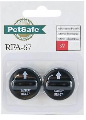 PetSafe Wireless 6 Volt Battery Replacement Fence Receiver Collar 2 Pcs RFA-67 Receiver Collar Battery