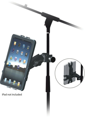 Adjustable+iPad+iPad+2+and+3+Holder+Bracket+-+Fits+to+Microphone+Stands+Poles