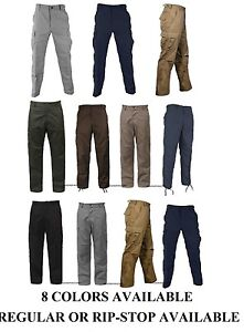 Solid-Military-Army-BDU-Cargo-Pants-Fatigue-Trousers-Tactical-Combat-Uniform