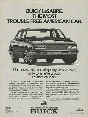 1989 Buick LeSabre Car Vintage Illustration Print Ad