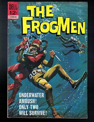 The Frogmen #8 - Dell, 1964 - Daisy Rifle ad on back cover - Fine for sale  Shipping to Canada
