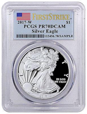 2017-W Proof American Silver Eagle PCGS PR70 DCAM FS Flag Label SKU45273