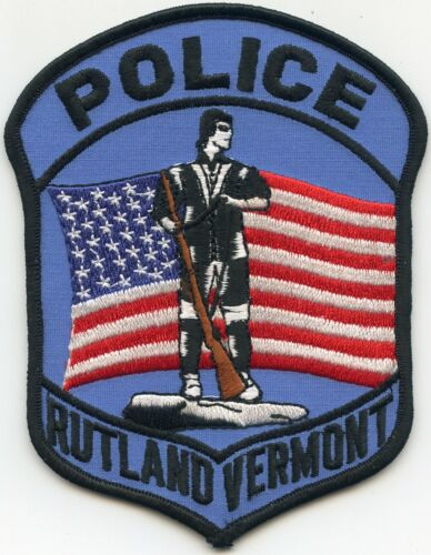RUTLAND VERMONT VT POLICE PATCH