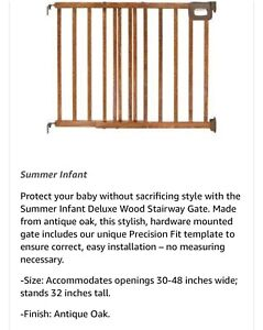 Summer infant deluxe baby gate
