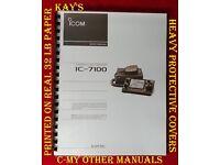 "11/"" X 17/"" Foldout Diagrams COLOR Icom IC-7100 Service Manual"