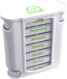 7 Tage Pillendose Pillenbox Pillenturm Tablettenbox Medikamentenbox