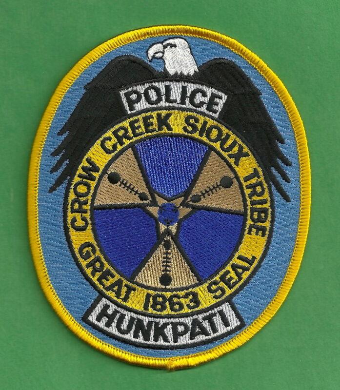 CROW CREEK SIOUX SOUTH DAKOTA TRIBAL POLICE SHOULDER PATCH
