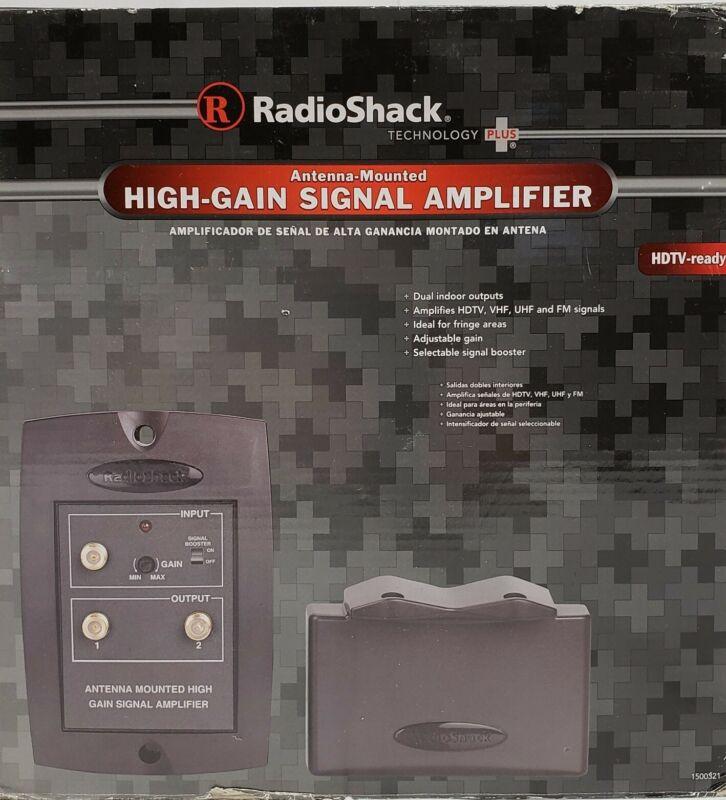 RadioShack Antenna Mounted High Gain Signal Amplifier Model #1500321-PLEASE READ