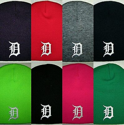 Detroit Tigers Beanie  Skull Cap  Hat  Classic Mlb Patch Logo  8 Colors  New