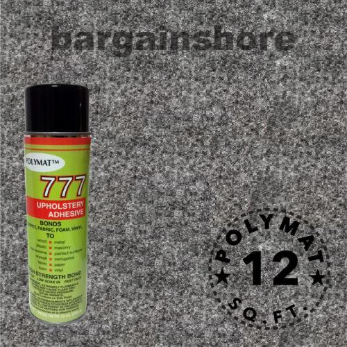 "3ft x 48"" +1can 777 Glue CHARCOAL Polymat S25 TRADE SHOW BACK DROP LINER CARPET"