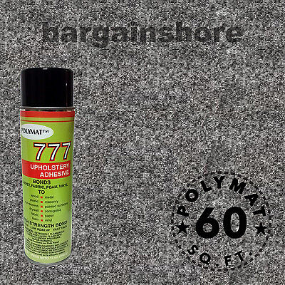 16ft X 3.75ft Charcoal Speaker Box Carpet +1 Can Spray Gl...