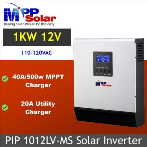 1kva 1000W 110vac 120vac 12vdc Solar Inverter 40A MPPT solar charger