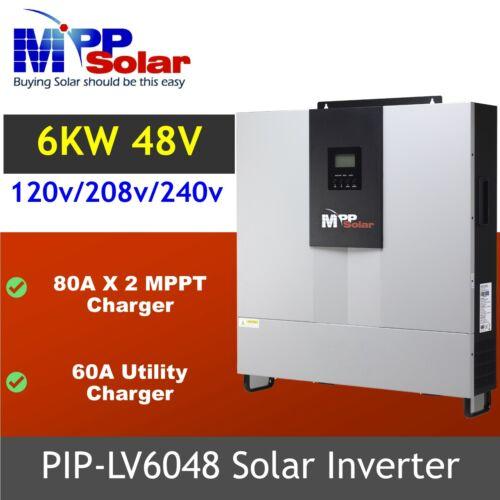 Split phase 110v 220v 6000w 48v Solar Inverter two 80A mppt solar charger built
