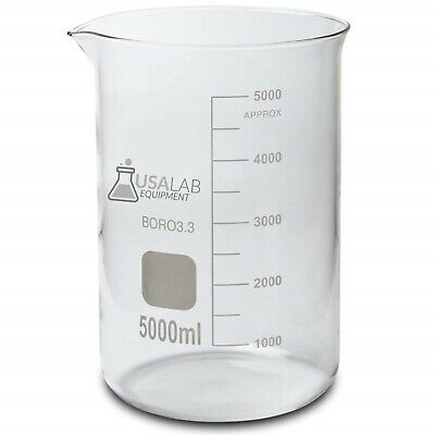 Usa Lab 5000ml Low Form 5l Glass Beaker Borosilicate 3