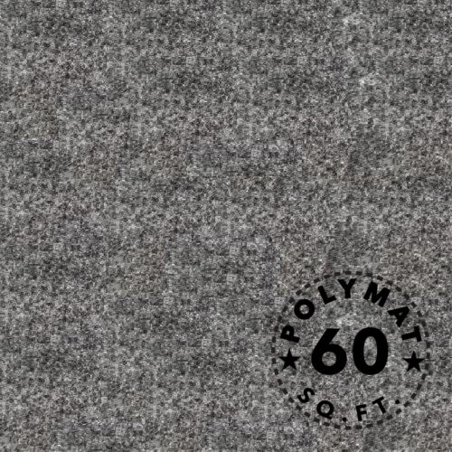 """16ft long x 45"""" wide Charcoal CHR33 Polymat Series 25 Latex Backed Carpet"""