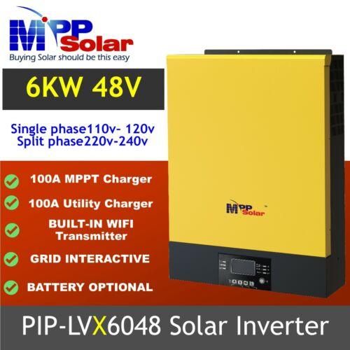 LVX6048 Split phase  100A MPPT  Solar Inverter PV 450vdc Split phase 110 220vac