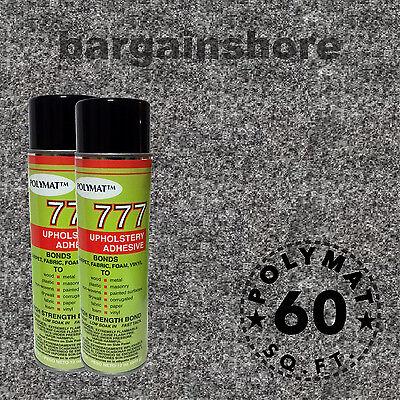 16ft X 3.75ft Charcoal Speaker Box Carpet + 2 (777) Glue ...