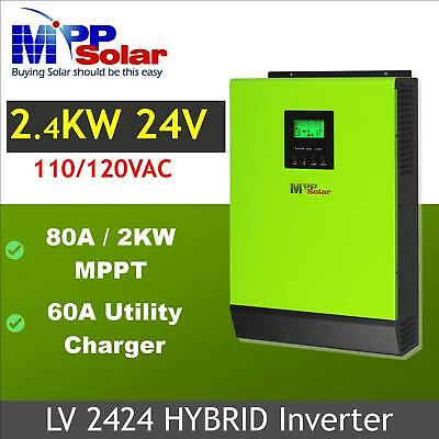2400w 24V 110V Hybrid Solar inverter 80a MPPT solar charger +60a battery charger - Hybrid Solar Charger