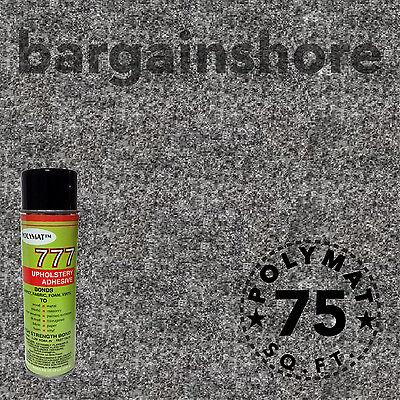 20ft X 3.75 Ft Charcoal Liner Speaker Box Carpet+1can Spr...