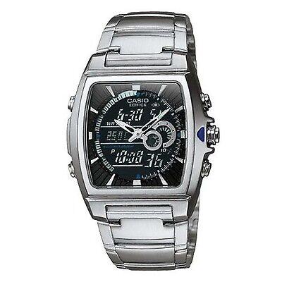 Casio Men's EFA120D-1AV Edifice Analog-Digital Square Dial Stainless Steel Watch